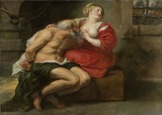 Rubens, Peter Paul: Cimon and Pero. Fine Art Print/Poster. Sizes: A1/A2/A3/A4 (001565)